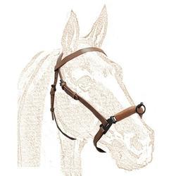 CABEZADA SERRETA Equitación e Hípica Zaldi Caballo Marrón FORRADA 1P