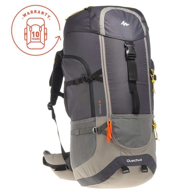 3790dca9ce9fd Travel Backpack Forclaz 70-Litre - Grey