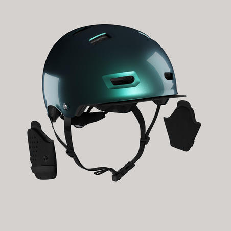 500 City Cycling Bowl Helmet - Petrol Blue