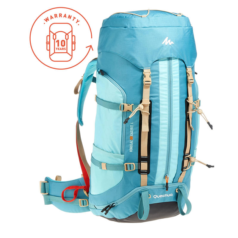 Trekking Backpack Easyfit Women's 60 Litre - Blue