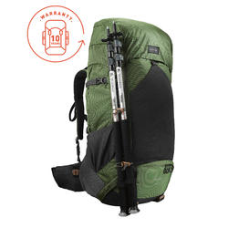 a5de4ba6b Trek 500 70+10L Men s Mountain Trekking Backpack - Green. ‹ ›