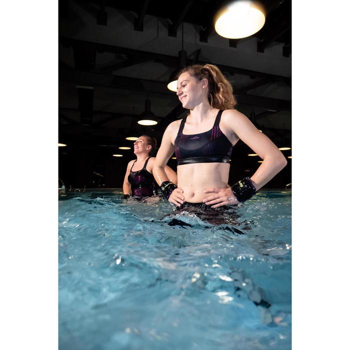 Sportbikini-Oberteil Aquafitness Anna All Rib Damen blau