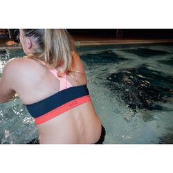 Sportbikini-Oberteil Aquafitness Anna Damen schwarz/orange