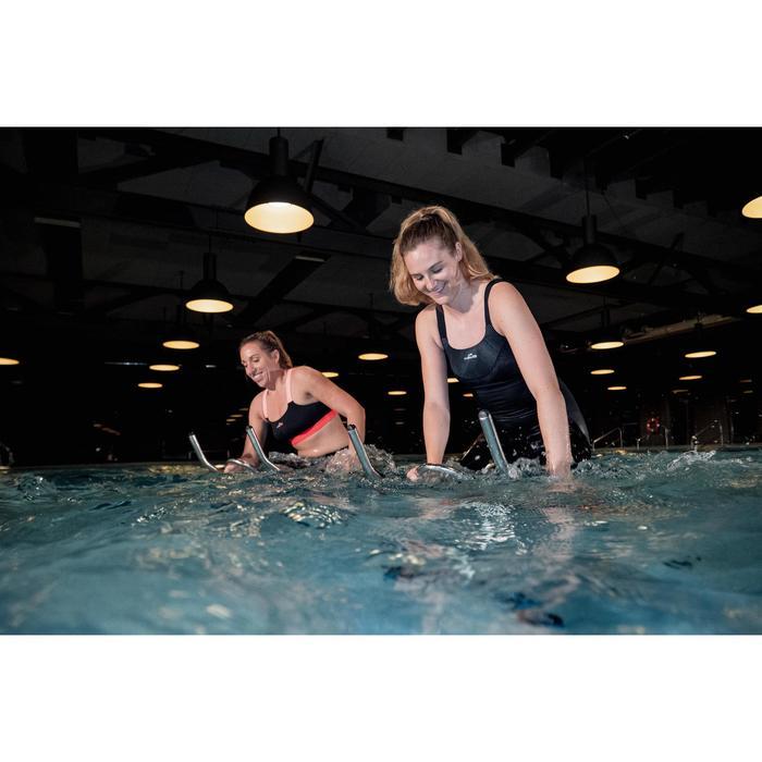 Bikinitop voor aquafitness Anna zwart/oranje