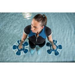 Shirt met korte mouwen voor aquagym en aquafitness Zia zwart/blauw