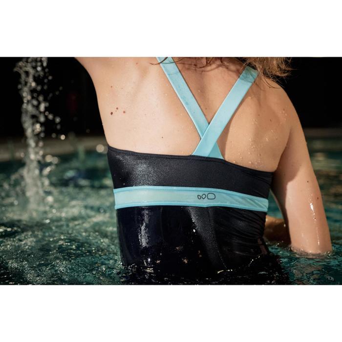 Badeanzug Aquafitness Anna Damen blau/grün