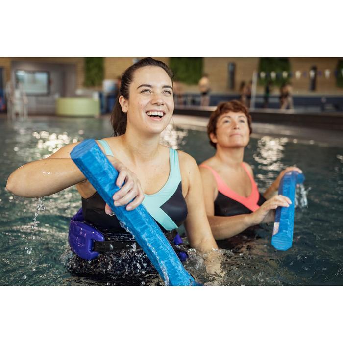 Maillot de bain une pièce femme gainant d'aquagym Karli Bleu Vert