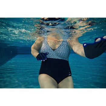 Maillot de bain une pièce femme gainant d'aquagym Lori Noir