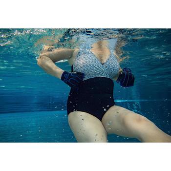 Corrigerend badpak voor aquagym Lori zwart