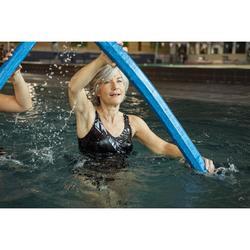 Maillot de bain une pièce femme gainant d'aquagym Karli Noir Boo
