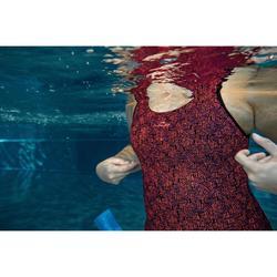 Maillot de bain femme une pièce d'Aquagym Mika Atch orange