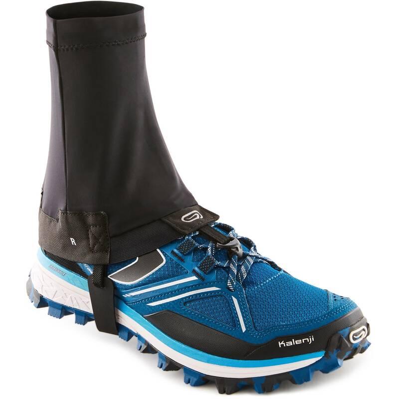 VYBAVENÍ NA TRAILOVÝ BĚH Běh - BĚŽECKÉ NÁVLEKY NA BOTY ČERNÉ KALENJI - Běžecká obuv
