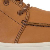 Men's Leather waterproof boat shoes KOSTALDE - Brown