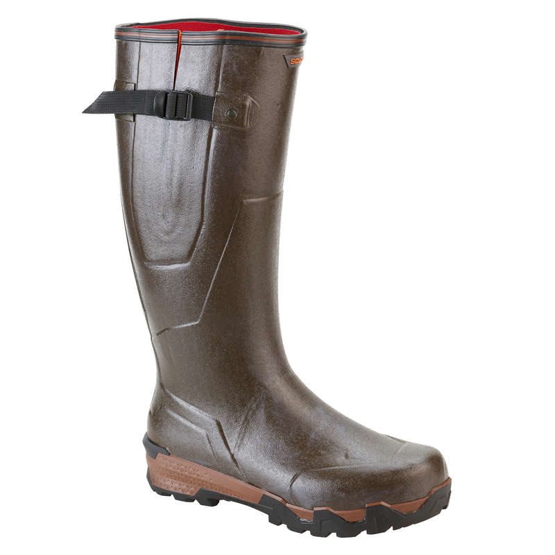 INSULATED REINFORCED WELLIES - WARM BOOTS 920 BROWN SOLOGNAC