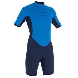 100 Men's Neoprene Shorty Surfing Wetsuit - Blue
