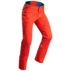 Pantalón cálido de senderismo hombre SH520 x-warm rojo