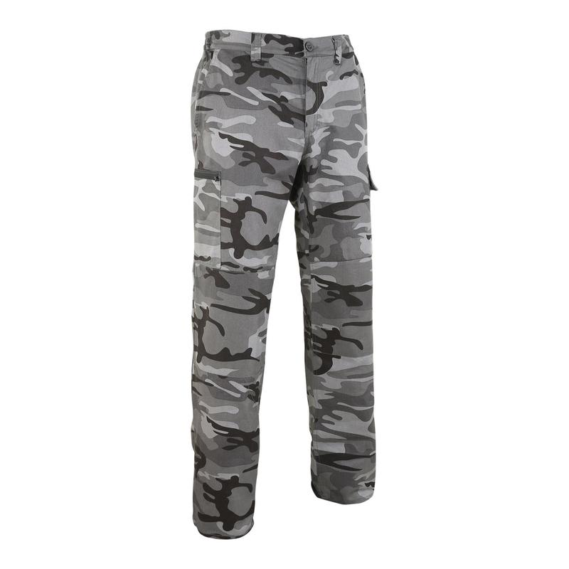 Pantalon chasse camouflage et résistant Steppe 300 woodland noir