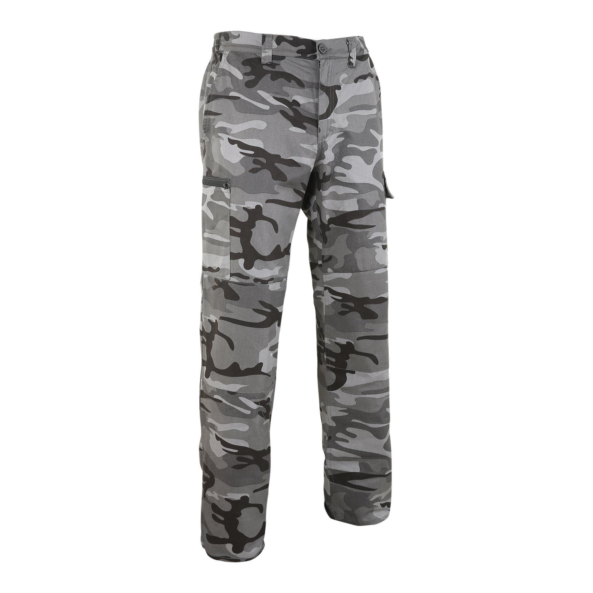 Pantalon chasse steppe 300 woodland noir solognac
