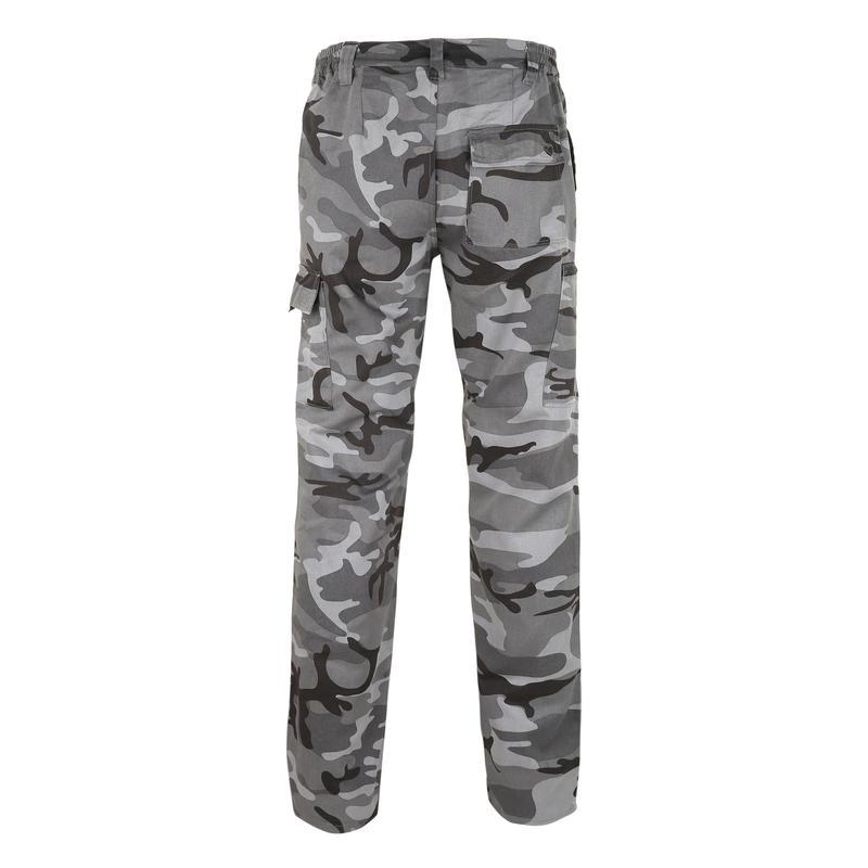 กางเกงส่องสัตว์ขายาวรุ่น Steppe 300 (สีดำ Woodland)