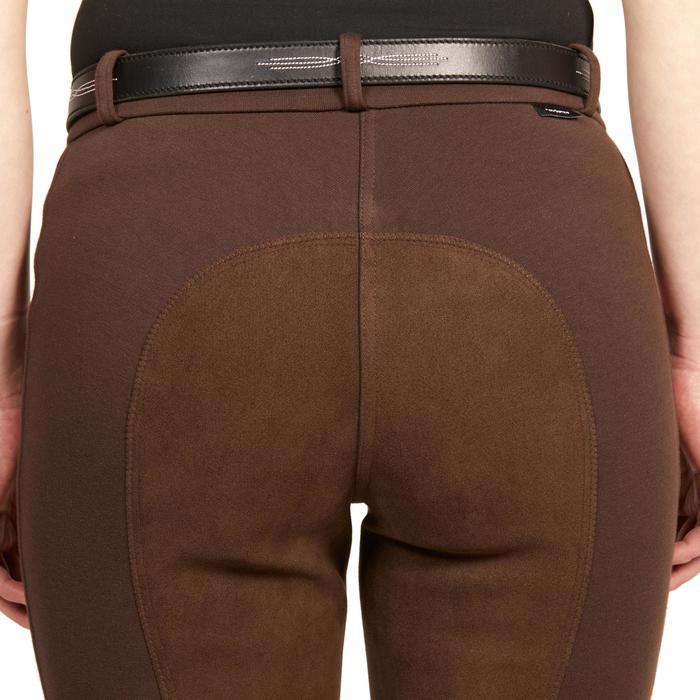 Damesrijbroek kunstleren zitvlak 180 fullseat bruin