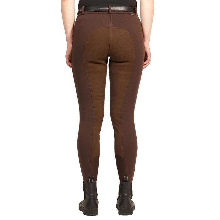 Pantalon fond de peau équitation femme 180 FULLSEAT marron