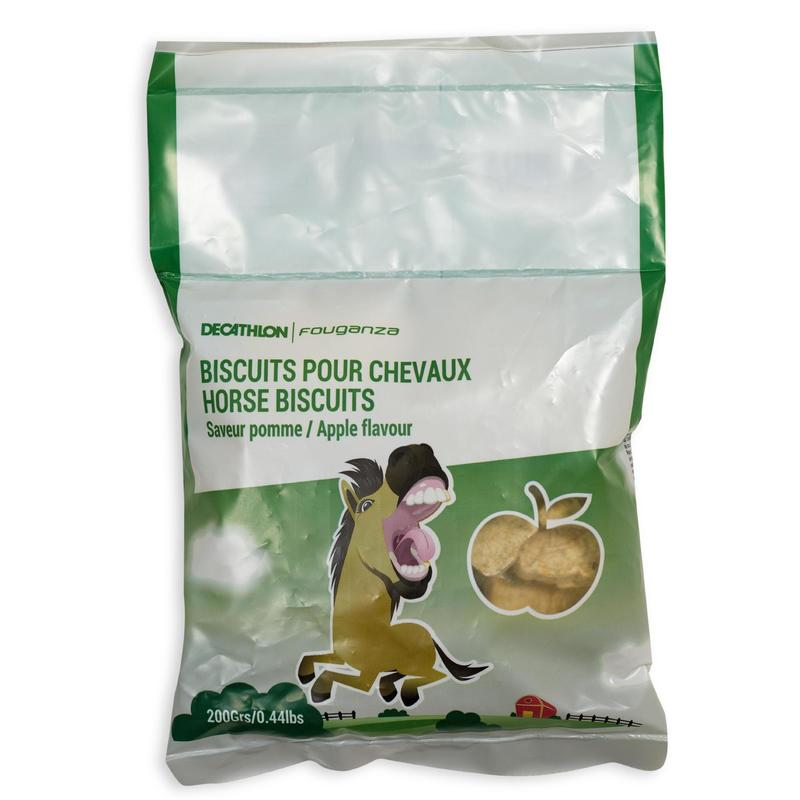 Fougacrunch Horse Riding Biscuits For Horse/Pony 200g - Apple