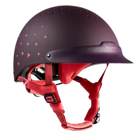 120 Horse Riding Helmet - Purple/Pink