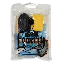 Kit de Limpeza Equitação 9 Elementos Criança Azul-celeste e Preto