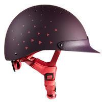 120 Horseback Riding Helmet - Purple/Pink