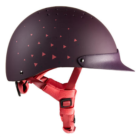 120 Horseback Riding Helmet - Purple/Pink