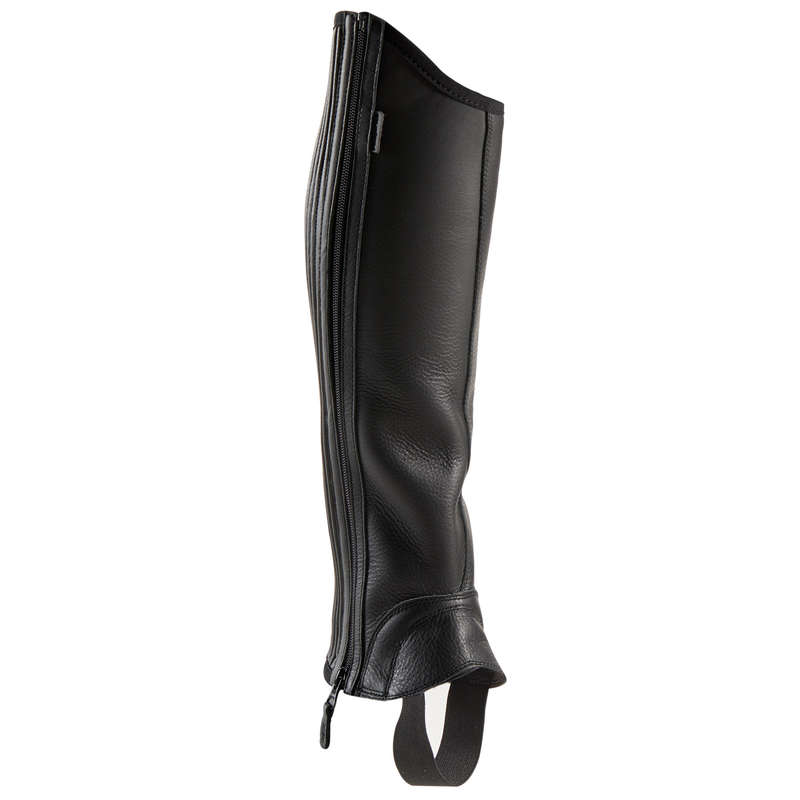 ADULT JODPHUR/PADDOCK BOOTS AND HC Horse Riding - 560 Soufflet Adult Half-Chaps FOUGANZA - Horse Riding Clothes