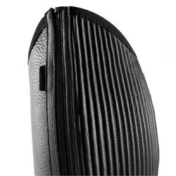 Minichaps 500 met plooi volwassenen ruitersport zwart