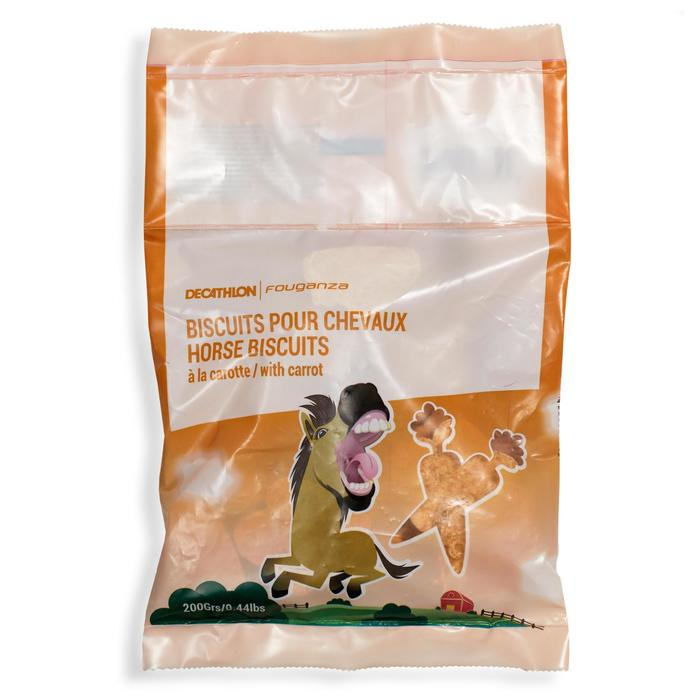 Koekjes ruitersport paard en pony Fougacrunch wortel - 200 g