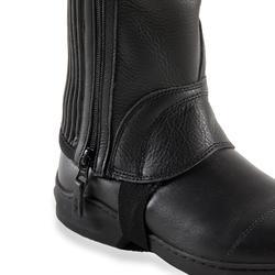 Leren minichaps voor paardrijden volwassenen 560 zwart met plooi