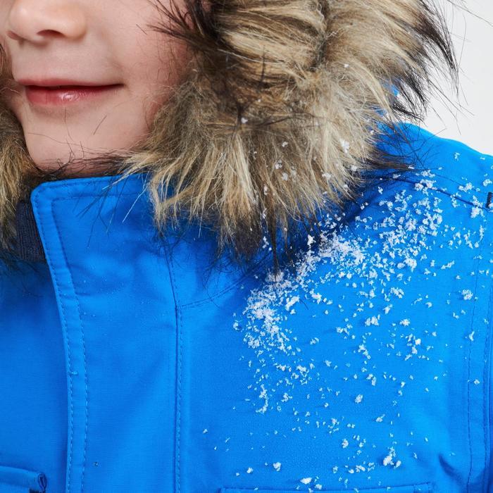 Chaqueta parka cálida impermeable de senderismo SH500 U-WARM niño 2-6 años azul
