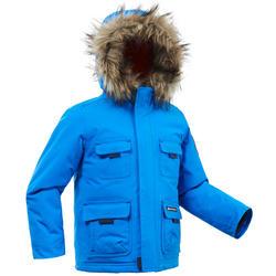 男童款2至6歲極致保暖雪地健行外套SH500–藍色