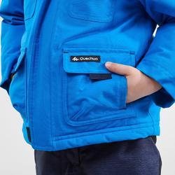 Chaqueta cálida de senderismo nieve SH500 U-WARM niños 2-6 años azul