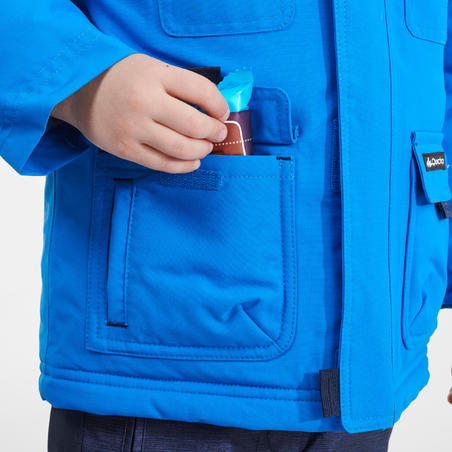 Boy's Age 2-6 Warm Snow Hiking Jacket SH500 U-WARM - Blue