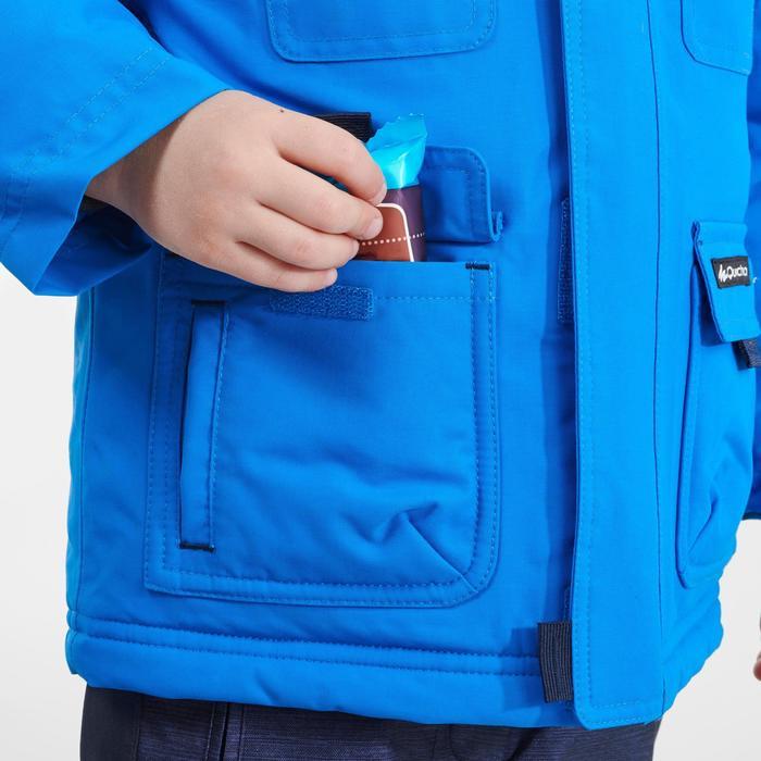 Winterjacke Winterwandern SH500 Ultra-Warm Kinder Jungen 89–122cm blau