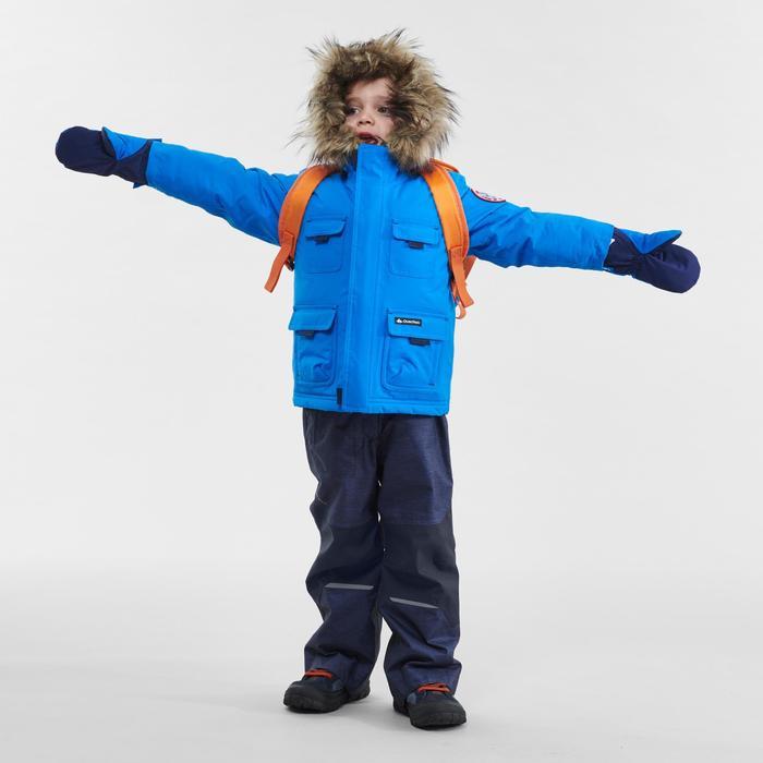 Veste parka chaude imperméable de randonnée SH500 U-WARM garçon 2-6 ans bleue