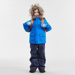 Warme waterdichte wandeljas voor jongens SH500 U-Warm 2-6 jaar blauw