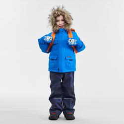 Manteau chaud de randonnée neige SH500 U-WARM garçon 2-6 ans bleu