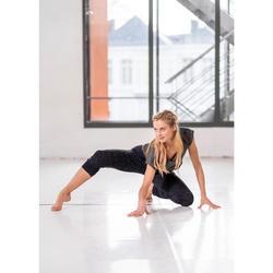 Pantalon fluide noir chiné de danse moderne femme