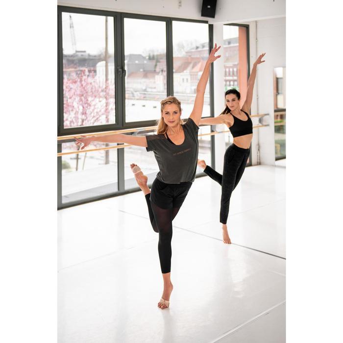 Tanz-Shirt mit Statement Modern Dance Damen olive/schwarz