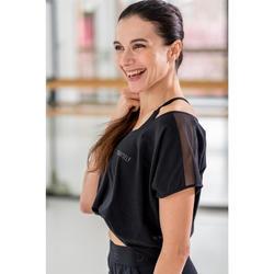 Tanz-Shirt mit Statement Modern Dance Damen schwarz