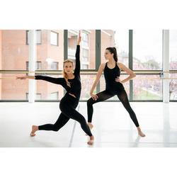 Legging danse moderne femme noir sans couture