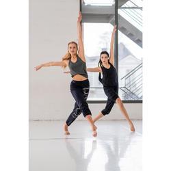 Combinaison d'échauffement danse femme gris anthracite chiné