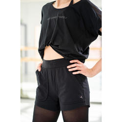 Tee-shirt à message danse moderne femme noir