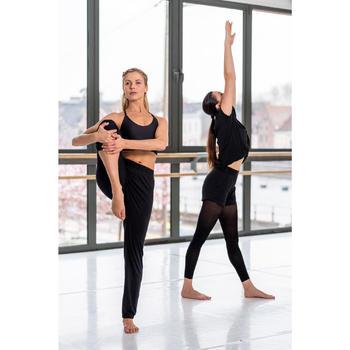 Short met elastische taille voor moderne dans dames zwart