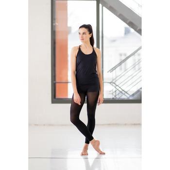 Débardeur fluide noir danse moderne femme